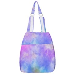 Background Abstract Purple Watercolor Center Zip Backpack