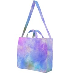 Background Abstract Purple Watercolor Square Shoulder Tote Bag