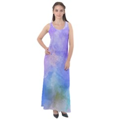 Background Abstract Purple Watercolor Sleeveless Velour Maxi Dress by Alisyart
