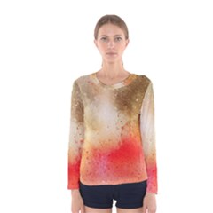 Abstract Space Watercolor Women s Long Sleeve Tee by Alisyart