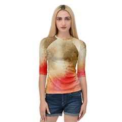 Abstract Space Watercolor Quarter Sleeve Raglan Tee by Alisyart