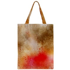 Abstract Space Watercolor Zipper Classic Tote Bag
