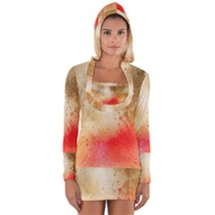 Abstract Space Watercolor Long Sleeve Hooded T Shirt