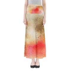 Abstract Space Watercolor Full Length Maxi Skirt