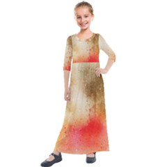 Abstract Space Watercolor Kids  Quarter Sleeve Maxi Dress by Alisyart