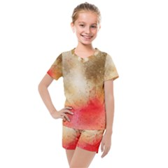 Abstract Space Watercolor Kids  Mesh Tee And Shorts Set by Alisyart