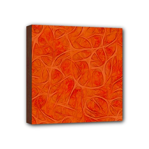 Background Structure Pattern Nerves Mini Canvas 4  X 4  (stretched)