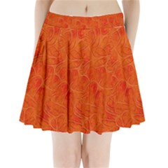 Background Structure Pattern Nerves Pleated Mini Skirt