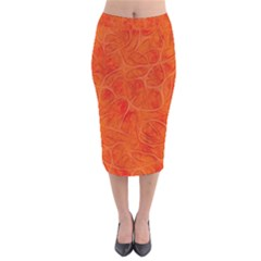Background Structure Pattern Nerves Velvet Midi Pencil Skirt