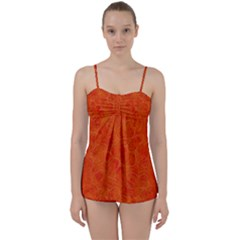Background Structure Pattern Nerves Babydoll Tankini Set