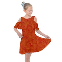 Background Structure Pattern Nerves Kids  Shoulder Cutout Chiffon Dress by Alisyart