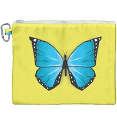 Butterfly Blue Insect Canvas Cosmetic Bag (xxxl) by Alisyart