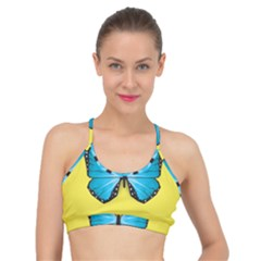 Butterfly Blue Insect Basic Training Sports Bra by Alisyart