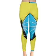 Butterfly Blue Insect Inside Out Leggings
