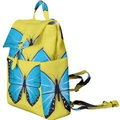 Butterfly Blue Insect Buckle Everyday Backpack by Alisyart