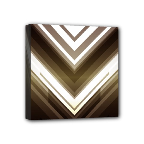 Chevron Triangle Mini Canvas 4  X 4  (stretched) by Alisyart