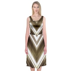 Chevron Triangle Midi Sleeveless Dress by Alisyart