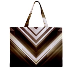 Chevron Triangle Zipper Medium Tote Bag by Alisyart