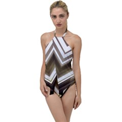 Chevron Triangle Go With The Flow One Piece Swimsuit