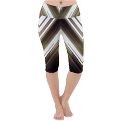 Chevron Triangle Lightweight Velour Cropped Yoga Leggings by Alisyart