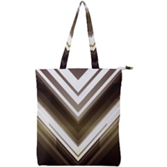 Chevron Triangle Double Zip Up Tote Bag