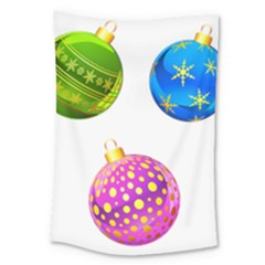 Christmas Ornaments Ball Large Tapestry