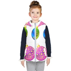 Christmas Ornaments Ball Kids  Hooded Puffer Vest