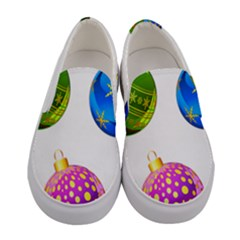 Christmas Ornaments Ball Women s Canvas Slip Ons
