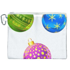 Christmas Ornaments Ball Canvas Cosmetic Bag (xxl) by Alisyart