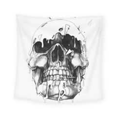 Black Skull Square Tapestry (small)