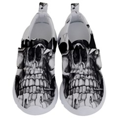 Black Skull Kids  Velcro No Lace Shoes by Alisyart