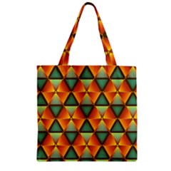 Background Triangle Abstract Golden Zipper Grocery Tote Bag