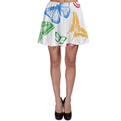 Butterfly Rainbow Skater Skirt