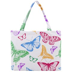 Butterfly Rainbow Mini Tote Bag
