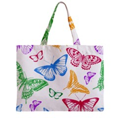 Butterfly Rainbow Zipper Mini Tote Bag