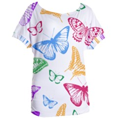 Butterfly Rainbow Women s Oversized Tee by Alisyart