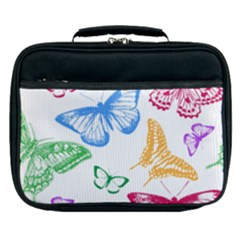 Butterfly Rainbow Lunch Bag by Alisyart