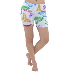 Butterfly Rainbow Lightweight Velour Yoga Shorts