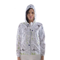 Butterfly Flower Hooded Windbreaker (women)