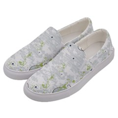 Butterfly Flower Men s Canvas Slip Ons by Alisyart
