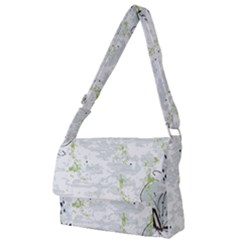 Butterfly Flower Full Print Messenger Bag