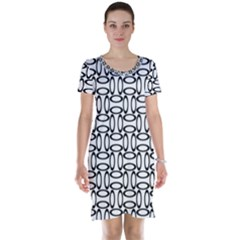 Ellipse Pattern Ellipse Dot Pattern Short Sleeve Nightdress