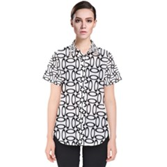 Ellipse Pattern Ellipse Dot Pattern Women s Short Sleeve Shirt by Alisyart