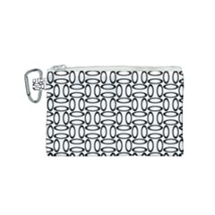 Ellipse Pattern Ellipse Dot Pattern Canvas Cosmetic Bag (small)