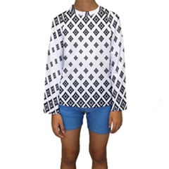Concentric Halftone Wallpaper Kids  Long Sleeve Swimwear