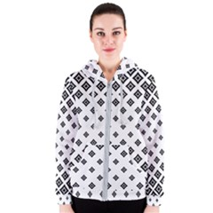 Concentric Halftone Wallpaper Women s Zipper Hoodie