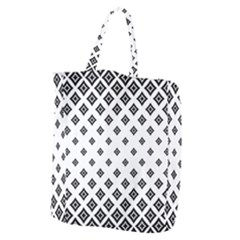 Concentric Halftone Wallpaper Giant Grocery Tote