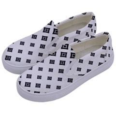 Concentric Halftone Wallpaper Kids  Canvas Slip Ons by Alisyart