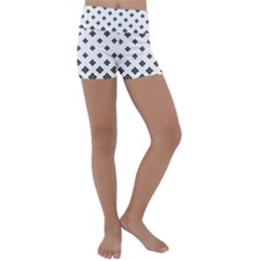 Concentric Halftone Wallpaper Kids  Lightweight Velour Yoga Shorts by Alisyart