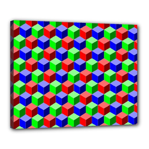 Colorful Prismatic Rainbow Canvas 20  X 16  (stretched)